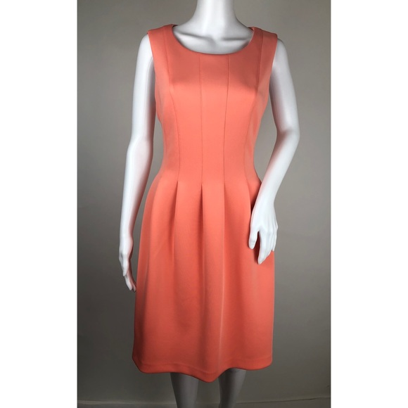 Calvin Klein Dresses & Skirts - Calvin Klein Coral Sleeveless Dress Size 12